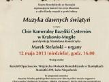"""Koncert """"Muzyka dawnych świątyń"""" w Staniątkach"""